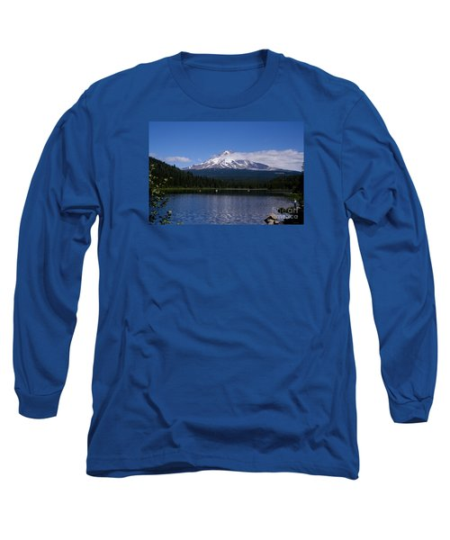 Perfect Day At Trillium Lake Long Sleeve T-Shirt