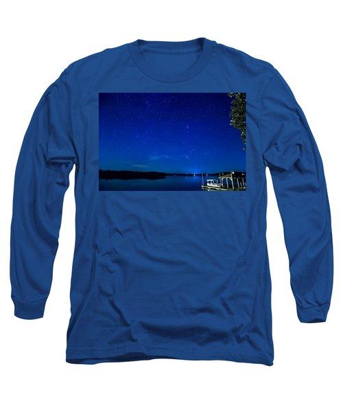 Perseid Meteor Long Sleeve T-Shirt by Charles Hite