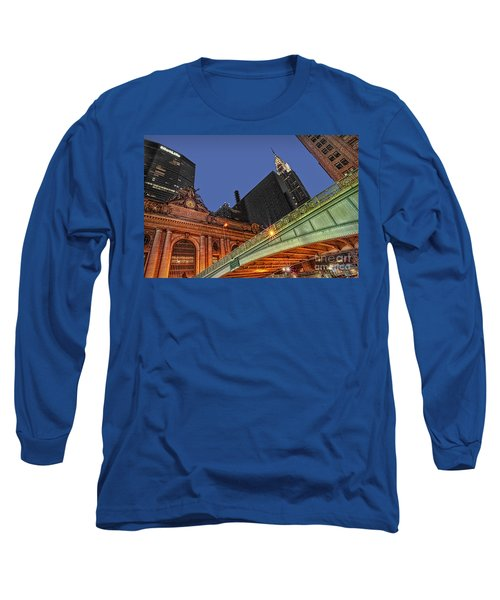 Long Sleeve T-Shirt featuring the photograph Pershing Square by Susan Candelario