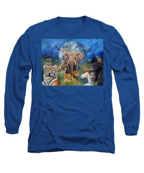 Planet Earth Long Sleeve T-Shirt by David Stribbling