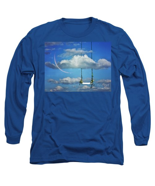 Playing In The Clouds Long Sleeve T-Shirt by Andrea Kollo