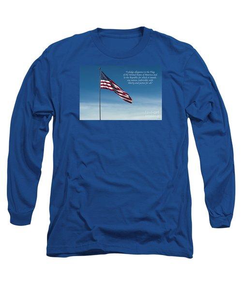 Pledge Of Allegiance Long Sleeve T-Shirt