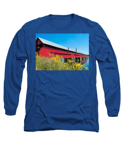 Long Sleeve T-Shirt featuring the photograph Pont Marchand by Bianca Nadeau