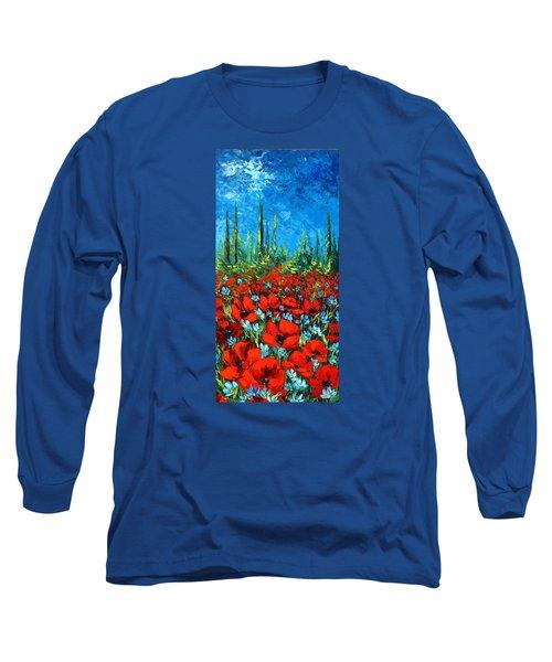 Poppie Field Long Sleeve T-Shirt by Katia Aho