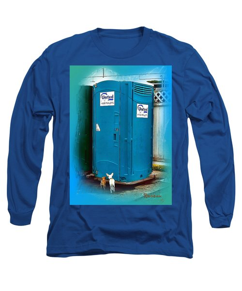 Long Sleeve T-Shirt featuring the photograph Porta Puppy Potty... by Sadie Reneau