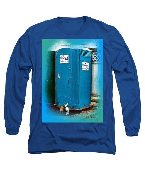Porta Puppy Potty... Long Sleeve T-Shirt