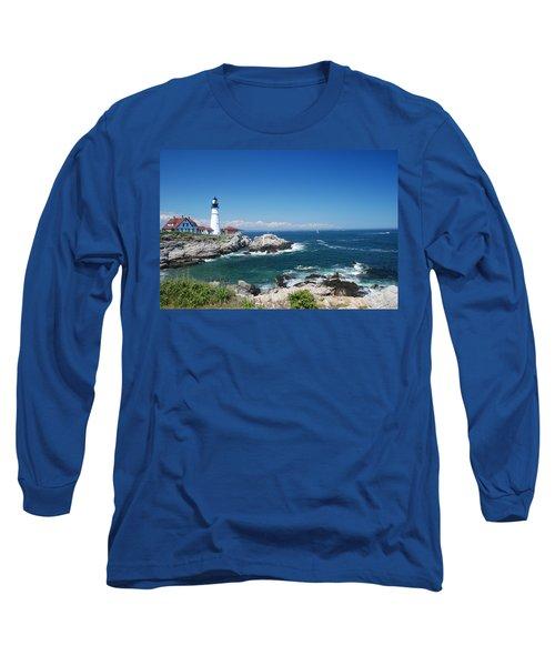 Portland Head Lighthouse Long Sleeve T-Shirt by Allen Beatty