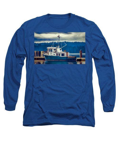 Poulsbo Waterfront 03 Long Sleeve T-Shirt by Wally Hampton