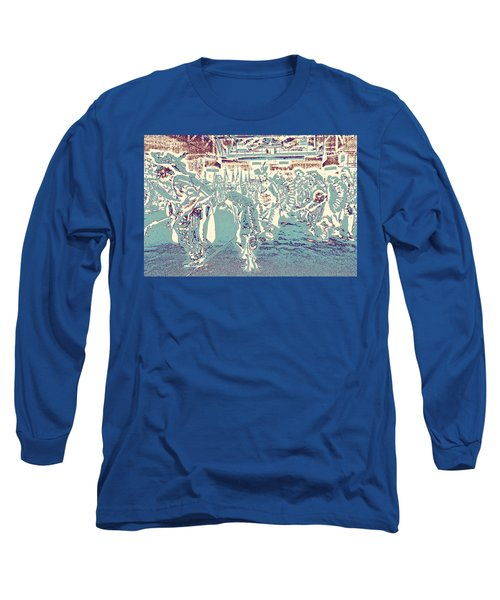Powwow Shadows Long Sleeve T-Shirt by Clarice  Lakota