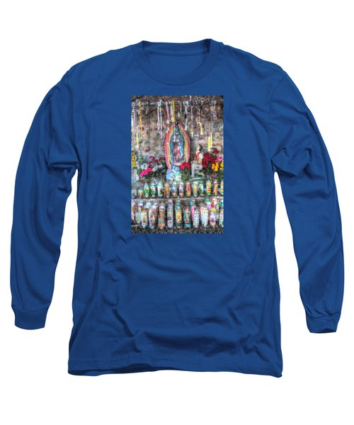 Long Sleeve T-Shirt featuring the photograph Prayers To Our Lady Of Guadalupe by Lanita Williams