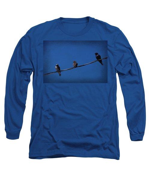 Purple Martin Trio Long Sleeve T-Shirt