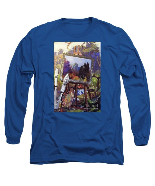 Long Sleeve T-Shirt featuring the painting Put Color In Your Life by Eloise Schneider