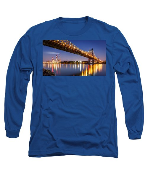 Queensboro Bridge Long Sleeve T-Shirt by Mihai Andritoiu