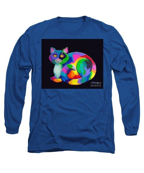 Rainbow Calico Long Sleeve T-Shirt
