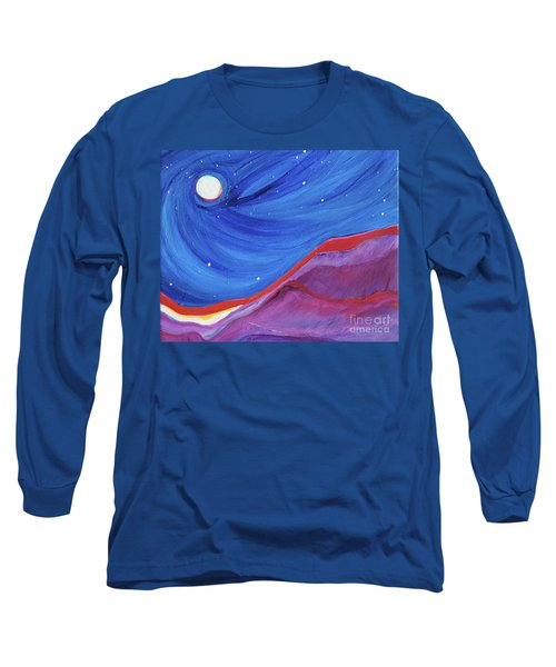 Long Sleeve T-Shirt featuring the painting Red Ridge By Jrr by First Star Art