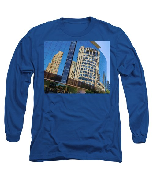 Long Sleeve T-Shirt featuring the photograph Reflections In The Rolex Bldg. by Robert ONeil