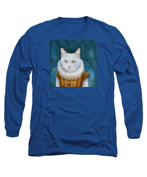 Long Sleeve T-Shirt featuring the painting Renaissance Cat by Terry Webb Harshman