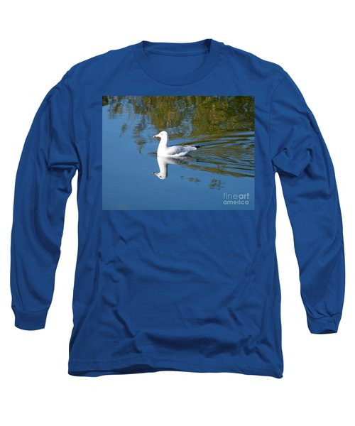 Long Sleeve T-Shirt featuring the photograph Ring-billed Gull by Ann E Robson