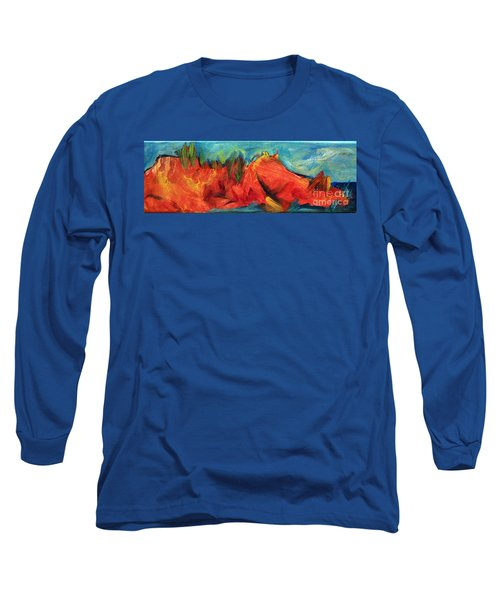 Roasted Rock Coast Long Sleeve T-Shirt by Elizabeth Fontaine-Barr