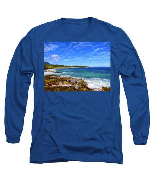 Rocky Shore Near Poipu Long Sleeve T-Shirt