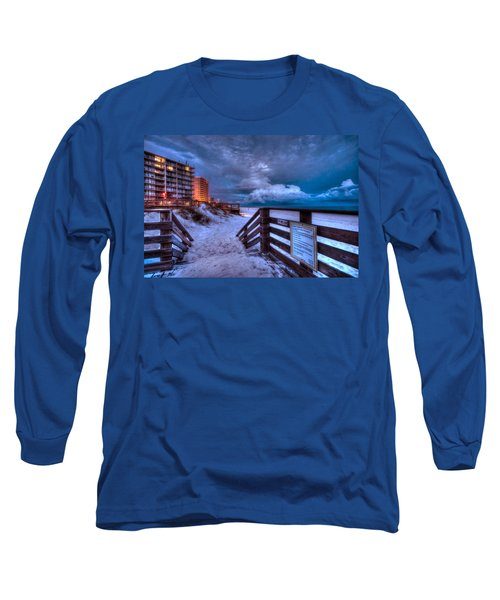 Romar Beach Clouds Long Sleeve T-Shirt