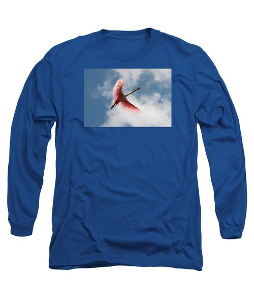 Long Sleeve T-Shirt featuring the photograph Roseate Soaring by Paul Rebmann