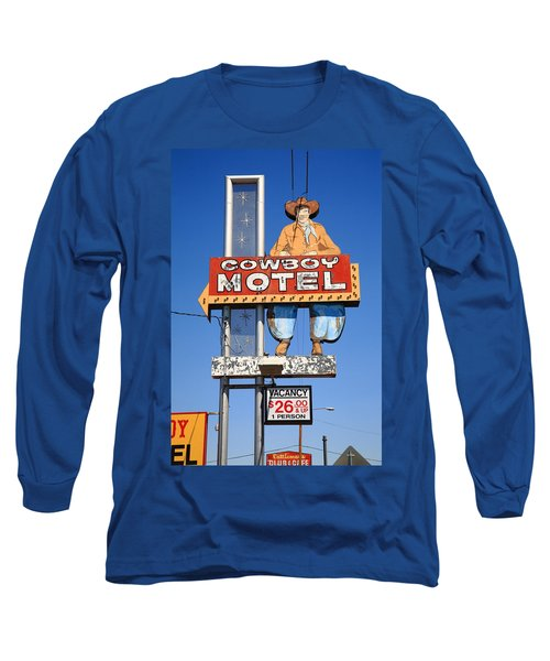 Route 66 - Cowboy Motel Long Sleeve T-Shirt