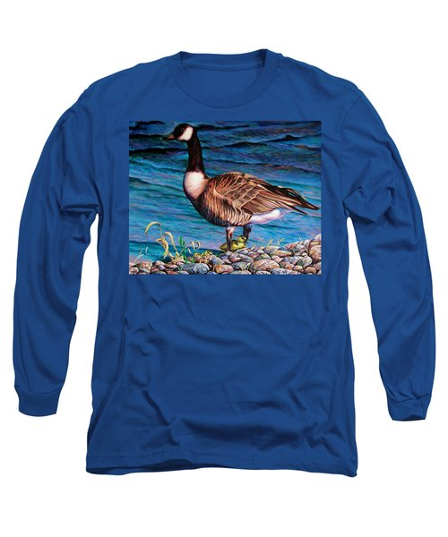 Long Sleeve T-Shirt featuring the painting Running For Cover by Craig T Burgwardt