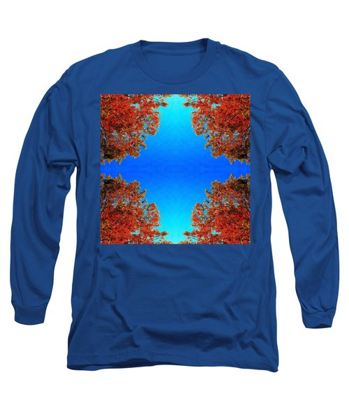Long Sleeve T-Shirt featuring the photograph Rust And Sky 1 - Abstract Art Photo by Marianne Dow