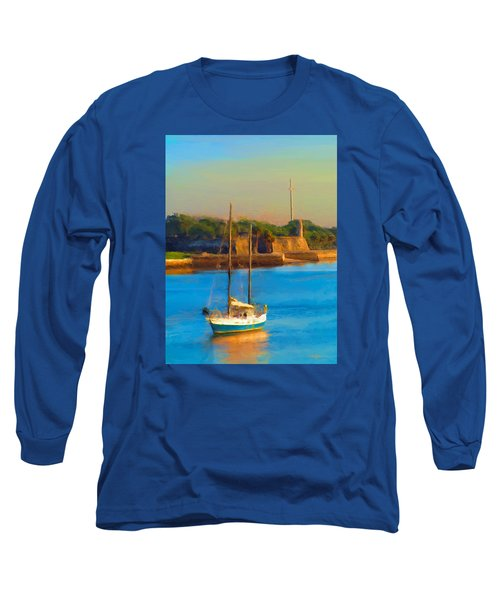 Da147 Sailboat By Daniel Adams Long Sleeve T-Shirt