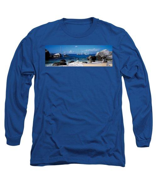 Sailboats In The Sea, The Baths, Virgin Long Sleeve T-Shirt