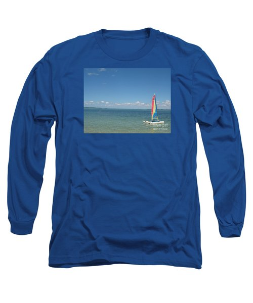 Long Sleeve T-Shirt featuring the photograph Sailing  At Key Largo by Christiane Schulze Art And Photography
