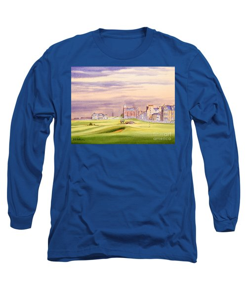 Saint Andrews Golf Course Scotland - 17th Green Long Sleeve T-Shirt by Bill Holkham