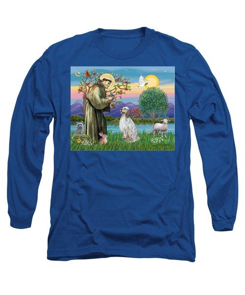 Saint Francis Blesses An English Setter Long Sleeve T-Shirt