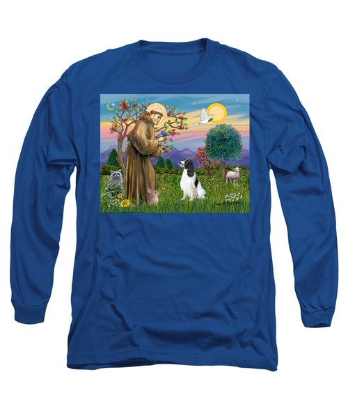 Saint Francis Blesses An English Springer Spaniel Long Sleeve T-Shirt