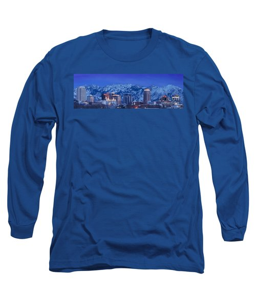 Salt Lake City Skyline Long Sleeve T-Shirt
