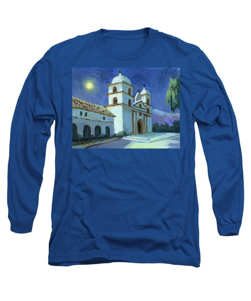 Santa Barbara Mission Moonlight Long Sleeve T-Shirt