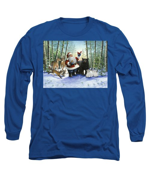 Santa's Christmas Morning Long Sleeve T-Shirt