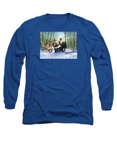 Santa's Christmas Morning Long Sleeve T-Shirt