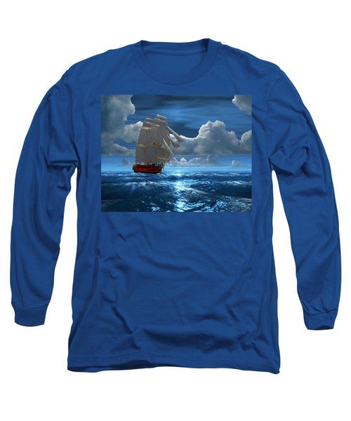 Santisima Trinida In The Moonlight Long Sleeve T-Shirt