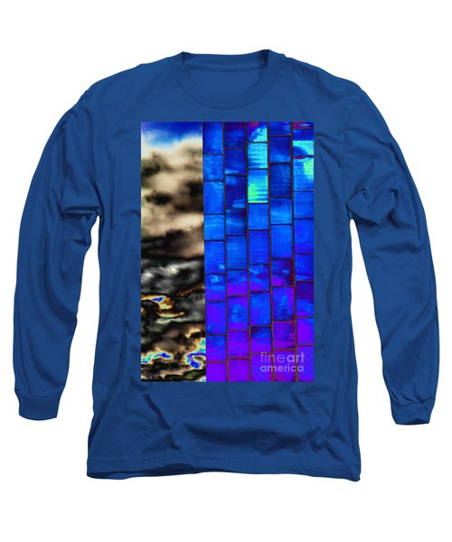 Long Sleeve T-Shirt featuring the photograph Sapphire Sunset by Christiane Hellner-OBrien