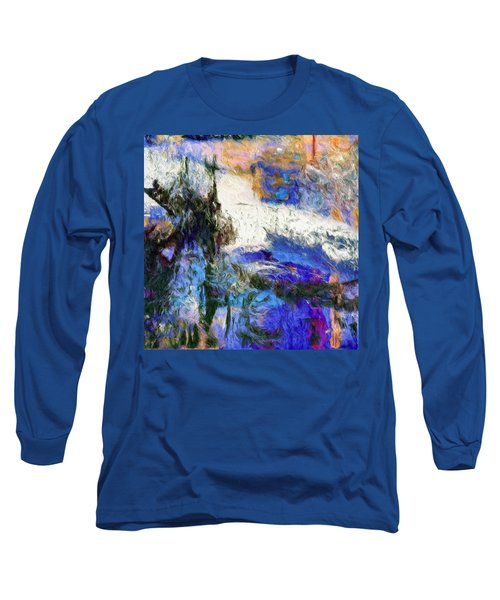 Long Sleeve T-Shirt featuring the painting Sausalito by Dominic Piperata