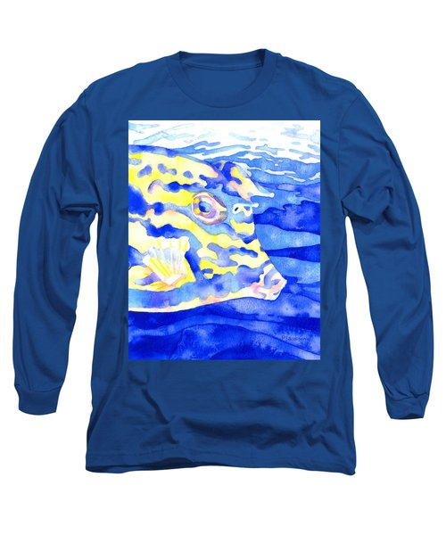 Scrawled Cowfish Portrait Long Sleeve T-Shirt