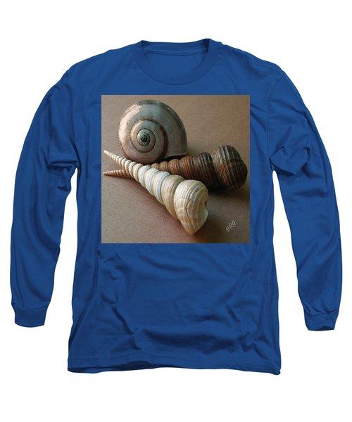 Seashells Spectacular No 29  Long Sleeve T-Shirt by Ben and Raisa Gertsberg