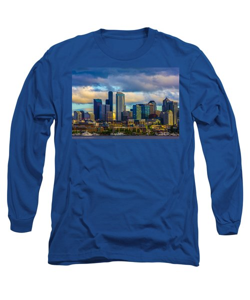 Seattle Cityscape Long Sleeve T-Shirt