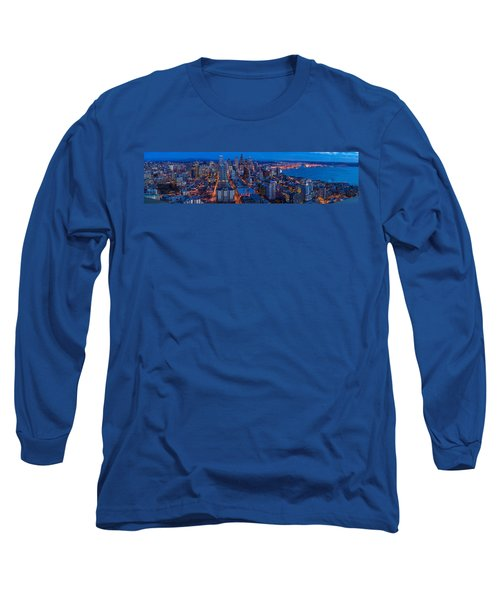 Seattle Skyline From The Space Needle Long Sleeve T-Shirt