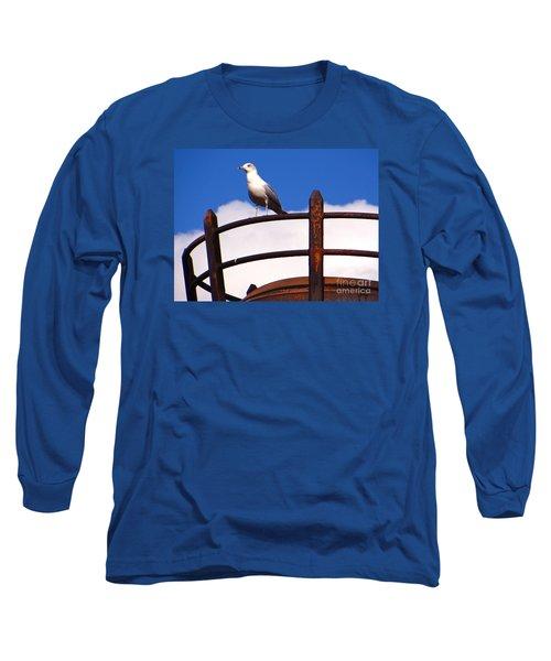 Sentinel Sea Gull Long Sleeve T-Shirt by Joy Hardee