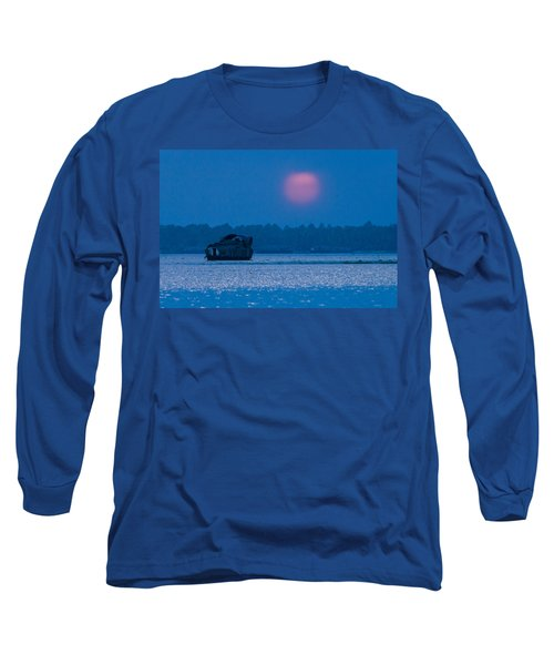 Setting Sun And Boat Long Sleeve T-Shirt