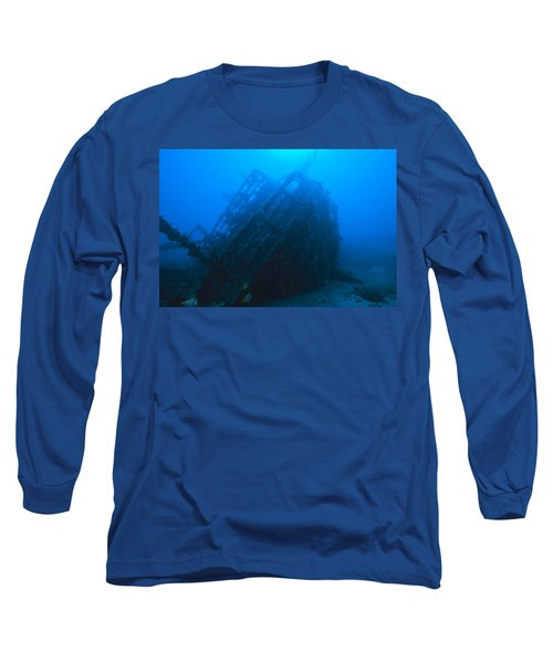 Shipwreck On Govenors River Walk Long Sleeve T-Shirt