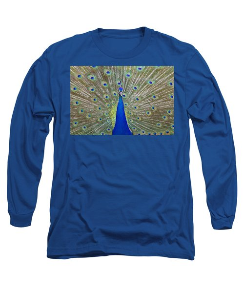 Long Sleeve T-Shirt featuring the pyrography Showing Off by Shoal Hollingsworth